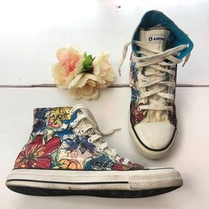 Airwalk High Top Shoe Sneakers Floral Print